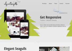 Elegant Seagulls. 20 November, 2013. #webdesign #inspiration #UI #DEVAWWWARD