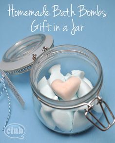 Homemade Bath Bomb gift in a jar