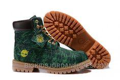 New Fashion Kid's Green Premium Surface Printing Fabric Boots-Black Yellow Nike Shox Shoes, New Jordans Shoes, Kids Jordans, Pumas Shoes, Cheap Timberland Boots, Timberland Classic, Timberland Kids, Jordan Shoes For Kids, Air Jordan Shoes