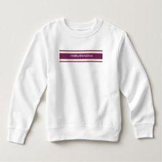Toddler White/Rasb. HAMbyWhiteGlove Fleece Sweat Sweatshirt - white gifts elegant diy gift ideas