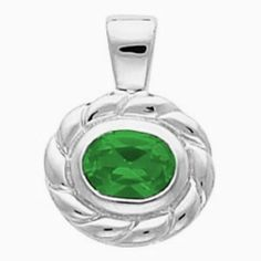 Platinum Oval Cut Chatham Created Emerald Pendant Gems-is-Me. $1685.72. FREE PRIORITY SHIPPING. This item will be gift wrapped in a beautiful gift bag. In addition, a 'gift message' can be added.. Save 40%!