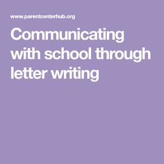 Communicating with school through letter writing