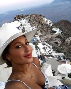 S A N T O R I N I  This heart of mine was made to travel the world! In awe of this beautiful place... Watch my adventures...  RealAdrienneB #Greece #Santorini #Oia #Sunset