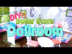DIY – How to Make – Dollar Store Dollroom – Handmade – Doll – Craft – – Everything About Babies Diy Barbie Furniture, Dollhouse Furniture, Barbie Doll House, Barbie Dolls, Barbie Stuff, Doll Stuff, Barbie Clothes, Dollar Store Crafts, Dollar Stores