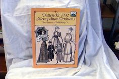 Sale Costume Book Butterick's 1892 Metropolitan Fashions used by RTFX on Etsy