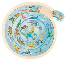Animal Circle Jigsaw Puzzle: Only from Toyday Toyshop. A circular animal design jigsaw.