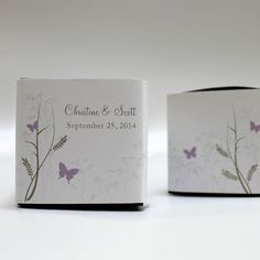 Romantic Butterfly Cube Favour Box Wrap - Confetti.co.uk