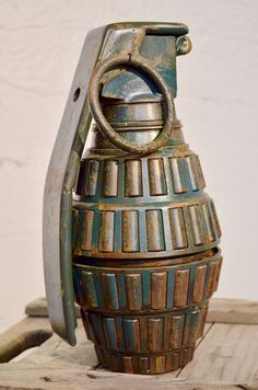 The Over Sized Hand Grenade is a one of a kind conversation piece for war enthusiasts and pacifists alike.