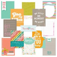 Free Journaling/filler card set for project Life. Pretty Pocket Kit.