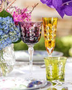 """Vamos Receber no Instagram: """"Mais uma combinação de cores das taças Christofle mais lindas by @matissecasa {www.matissecasa.com.br} #vamosreceber"""""""