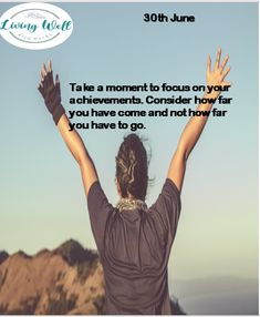 'Always focus on your achievements'