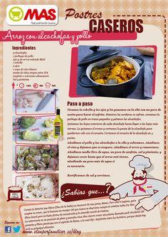 Receta de arroz con alcachofas y pollo