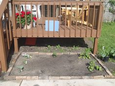 my little garden lined with old bricks Garden Line, Old Bricks, Cottage Gardens, Deck, Backyard, Outdoor Decor, House, Inspiration, Home Decor