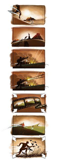 Storyboard for International Festival of Kerala by Seerow Unni #illustration