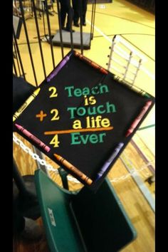 My cap for graduation!! Elementary education major