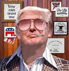 This! is one of the best memes yet...this is how I see him, cheap,tasteless,classless, con man, friends w criminals all round the world, at home in CrimeCity=Vegas