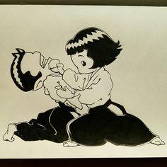 「当身」(Atemi) Aikido Martial Arts, Self Defense Techniques, Kendo, Nanami, Dojo, Jiu Jitsu, Disney Characters, Fictional Characters, Poster