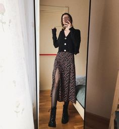 Mode Outfits, Skirt Outfits, Fall Outfits, Summer Outfits, Fashion Outfits, Look Fashion, Korean Fashion, Autumn Fashion, Girl Fashion