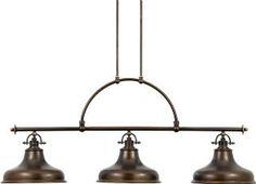 Highbury Bronze Triple Pendant Light