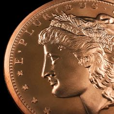 1//4 Oz .999 Copper Fractional Round Standing Liberty Design Golden State Mint