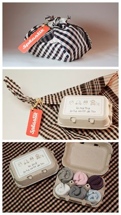 Clever cute DIY packaging. Try doing this with onesies for a baby shower.