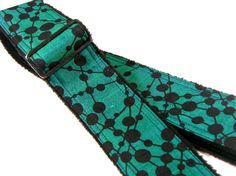 Simple Cosmo Black Dark Forrest Sherwood Green Dot by pailinstraps