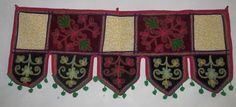 WALL HANGING TORAN DOOR DECORATE INDIAN EMBROIDERY WINDOW VALANCE TOPPER VR63 #Handmade