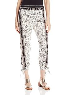 ONeill Juniors Tucker Printed Floral Woven Soft Pant Black Small -- Check this awesome product by going to the link at the image.