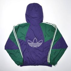 Rare Vintage 90s ADIDAS Hip Hop Bomber Coat Jacket Retro ADIDAS Puffer... ❤ liked on Polyvore featuring outerwear, jackets, vintage windbreaker jacket, vintage windbreaker, puffer jacket, blue bomber jackets and puffy bomber jacket