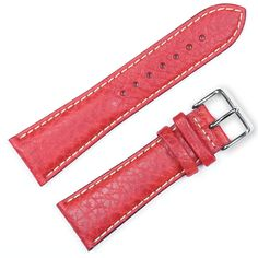 Debeer Replacement Watch Strap Sport Leather Red Fits Apple Watch [Silver Adapters] -- For more information, visit image link. (This is an affiliate link) Apple Watch Silver, Citizen Watch, Seiko Watches, Apple Watch Bands, Calf Leather, Watches For Men, Rose Gold, Sport, Red