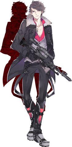Tags: Official Art, PNG Conversion, Rejet, Fuyuomi, Criminale!, Dante (Criminale!)