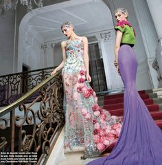 cool chic style fashion: Giambattista Valli FW '13 couture gowns in the September '13 issue of Prestige Magazine