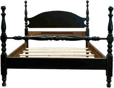 Tall Painted Cannonball Bed from Shaka Studios