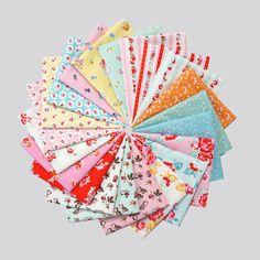 """""""Milk, Sugar, & Flower by Elea Lutz for PennyRose Fabrics. So sweet!"""