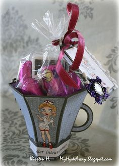 "My Craft and Garden Tales: A ""get well"" mug with template - Folding challenge at Kort o Mania"