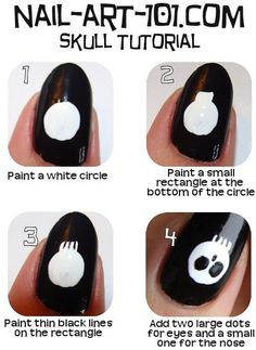 Skull nails tutorial! this is so happening!