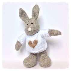 Pip the Bunny toy knitting patterns by fluffandfuzz on Etsy