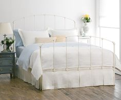 Rutherford Original Iron Bed- Antique White Full Headboard only - $549