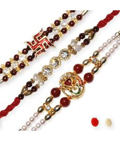 Send Rakhis To India Multicolour Fabric Designer Rakhi