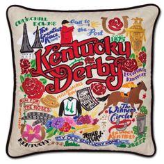Cat Studio Kentucky Derby Pillow