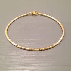 Seed Bead Bracelet, Beaded Bracelet ,Gift for Bridesmaid, Peach Blush Gold Wedding This listing is for one beaded gold fill Bracelet. Bracelet is