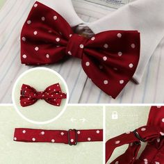 DBE0112  Stain Pre-Tied Bow Tie Gift For Business- Casual 3 Package Set Dan Smith