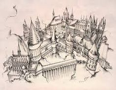 """Résultat de recherche d'images pour """"hogwarts castle drawing"""""""