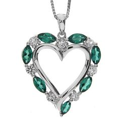 Sterling Silver Created Emerald and Created White « Holiday Adds