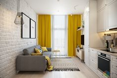 Love me a little yellow accent 😉💛 by Cristina Pop Decor Home Living Room, Home Living Room, Charcoal Sofa Living Room, Home, Interior Design Living Room, Interior, Simple Bedroom Design, Sitting Room Decor, Room Interior