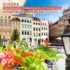Passagem Aérea promocional para a Europa em até 10x sem juros.    Saiba mais:  https://www.passagemaerea.com.br/promocional-europa.html   #europa #passagemaerea #viagem #ferias