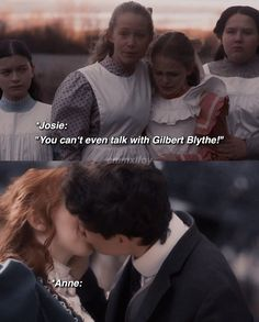 Gilbert Blythe, Amybeth Mcnulty, Gilbert And Anne, Anne White, Anne With An E, Anne Shirley, Big Words, Book Memes, Hunger Games