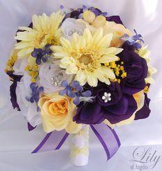 17pcs Wedding Bridal Bouquet Set Decoration by LilyOfAngeles, $189.99