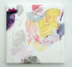 Mayako Nakamura.  Honokana kage no shirushi, 2011, Oil on canvas ink pigment charcoal 455x455x45mm