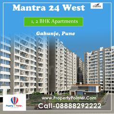 24 West by Mantra Properties is offering 1,2,2.5,3 BHK Superior Aparments